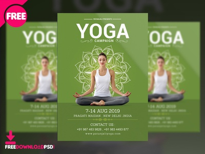Yoga Campaign Flyer Free PSD