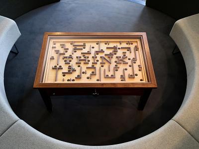 IBM Thinktable ibm puzzles puzzle game carpentry art direction design corporate branding coffee table furniture design furniture