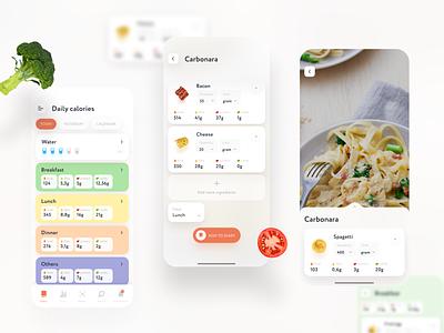 Calorie counter app design webdesign vector ux ui web ui  ux