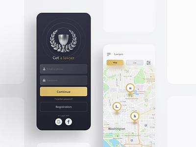 Get a lawyer / DailyUI dailyui lawyer webdesign web ui design app ux ui  ux