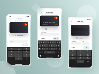 Pay by Credit Card ios payment pay creditcard dailyui uidaily ui design app ux ui  ux