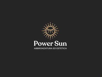 Power Sun | Abbronzatura ed estetica beautycare beauty powersun brandidentity rebranding logotype minimal mark logodesign design branding logo brand
