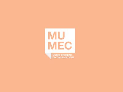 MUMEC | Musei dei Mezzi di Comunicazione mumec italy culture art museum vector minimal mark logodesign design branding logo brand