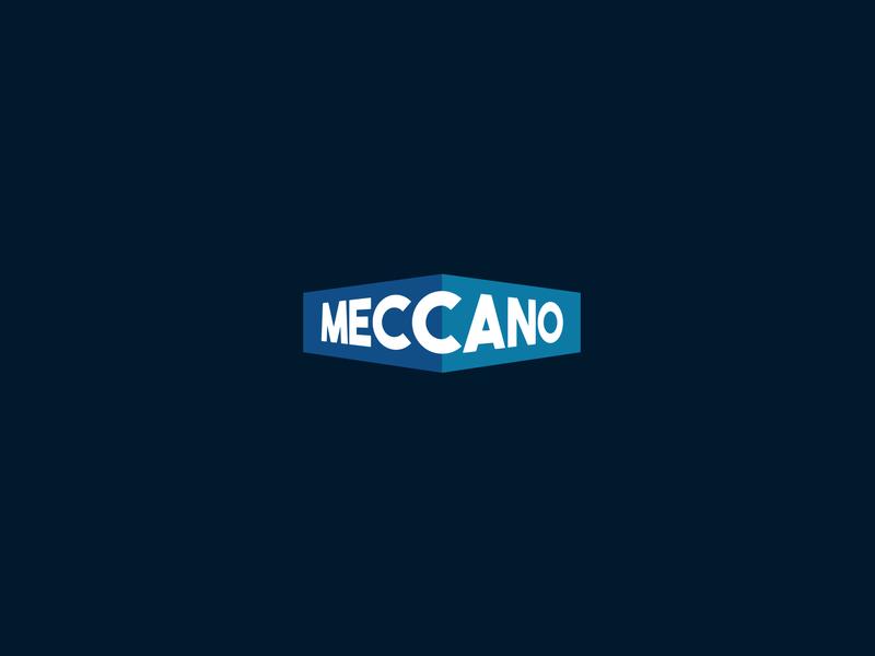 Meccano blue meccano typography font mark logotipo logotype minimal logodesign branding design logo brand