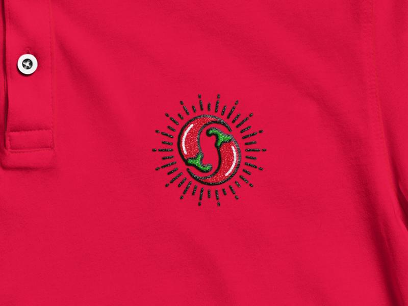 Polo Peperoncino festival stationery brandidentity art hot red chili pepper shirt merch polo rebrand mockup rebranding mark minimal logodesign design branding logo brand