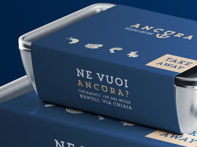 Ancòra take away stationery corporate food takeaway restaurant seafood packaging identity brandidentity mockup typography logotype font minimal mark logodesign design branding logo brand