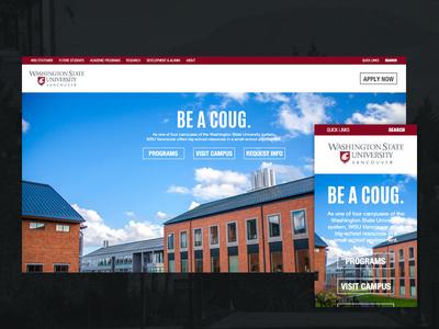 Responsive university website design