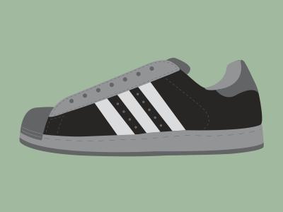 Adidas Superstar illustration design shoe