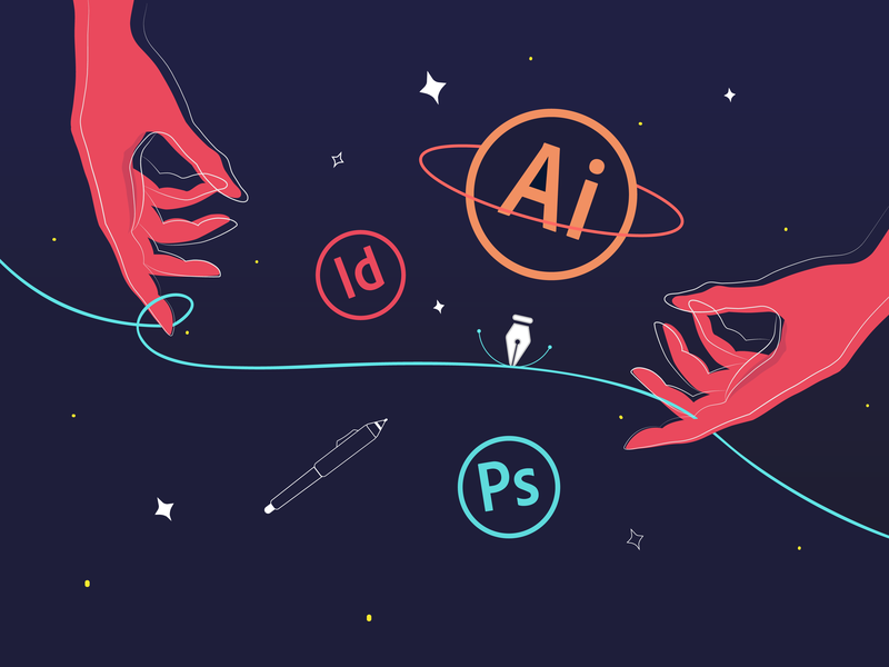Background image for LinkedIn | Illustration create wacom tablet digitalart digital art universe vector illustration vector art adobe indesign adobe illustrator adobe photoshop illustrator digital illustration illustration vector