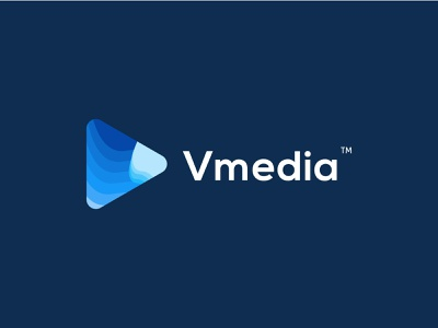 Vmedia Logo vector colorful graphicdesign media player media logo video video games abstract design abstract logo abstract art logos android app design branding others logo app illustration logodesign ui company
