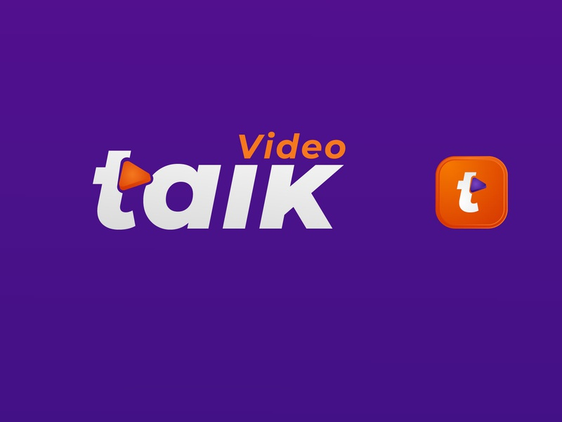 Talkvideo logo design graphic design branding agency brand identity brand design software video text logo textlogo logos logo design vector android app design others logo app branding illustration ui logodesign company