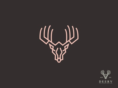 Deer Logo Design lineart modern logo deer flat logo deer icon icon logo tipo sketch drawing app typography brand identity vector others logodesign branding logo illustraion deer vector deer head deer logo