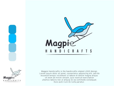 Logo Design minimalist logo minimalist playful logo modern logo handicrafts logo logo designer logo tipo logo design concept bird logo bird magpie vector magpie logo logos vector others logo company illustration branding logodesign
