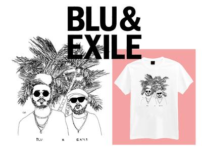 Blu & Exile - Merch Design - True & Livin' Tour