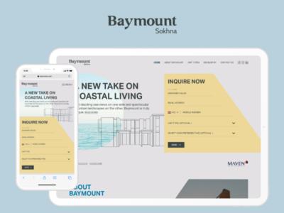 Baymout - Landing Page design website landing page design landing page webdesign web ui8 ux uiux ui design ui