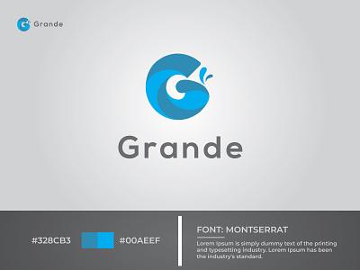 Logo Design for Grande Water Mixer Company modern logo logo design icon branding vector beautifu logo design illustration minimalist logo flat  design
