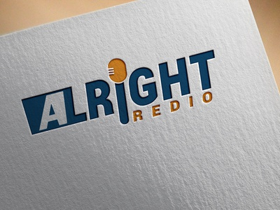 Alright Radio modern latter blue logo design logo design beautifu logo design beautiful logo minimalist logo flat  design