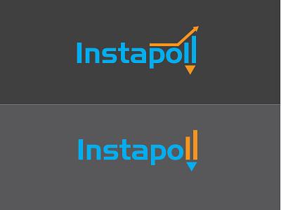 Instapoll Logo idea orange simple portfolio typography latter modern blue branding vector icon logo design illustration design beautifu logo design beautiful logo logo minimalist logo flat  design