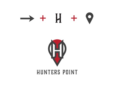 Hunting point simple portfolio gray typography latter modern branding design vector logo design illustration icon beautifu logo design logo beautiful logo minimalist logo flat  design