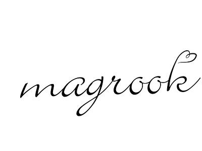 Magrook signature logo black simple portfolio gray blue modern branding design logo design illustration icon minimalist logo beautifu logo design beautiful logo logo flat  design
