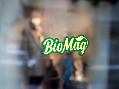 Biomag Ntural Logo vector logo design illustration design icon logo beautifu logo design beautiful logo minimalist logo flat  design