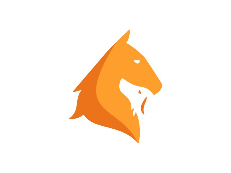 Animal Hospital Logo equine brand care hospital animal veterinarian horse dog pet logo