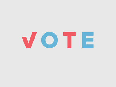 Vote 2016 hillary trump state blue red november election vote potus president
