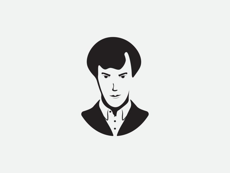 Sherlock sherlock holmes sherlock vector logo minimal illustration