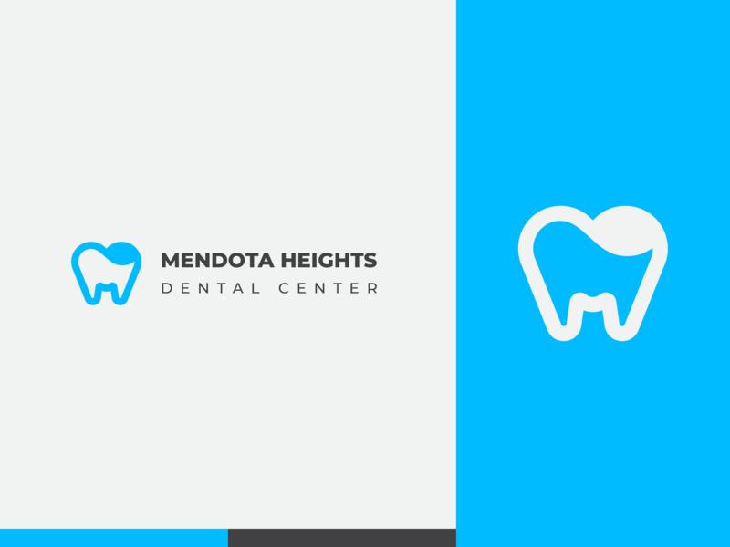 Mendota Heights Dental Center Logo clinic dental clinic dental logo doctor medical dental care dental mendota 2d branding logo minimal