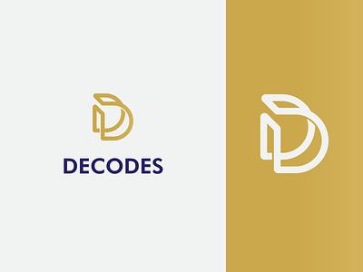Decoration and Design Logo white gold d dd minimal branding decor decorative logo design decoration