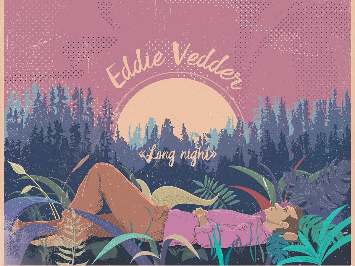 Long nights vector illustration music cover design