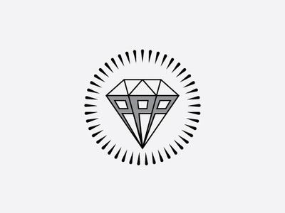 Triple P Diamond Logo circle abstract triple p three shape brand logo-design vector ring illustrator hair pomade triple letter p letter diamond