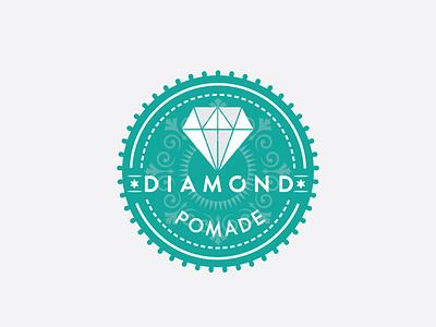 Diamond Pomade Logo pomade logo desgn white diamond logo logo design hair wax pomade logo diamond pomade vector logo illustrator