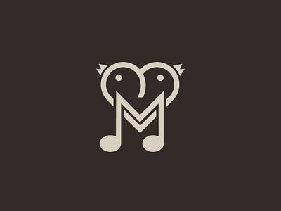 Two Love Birds In A Music Note Logo loving bird bird logo logo deisgn graphic  design letter m vector artwork unique creative cute branding illustrator flatdesign minimalist logo pet animal media brand musicnote birdlogo lovevirds