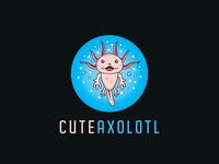 Cute Axolotl Logo