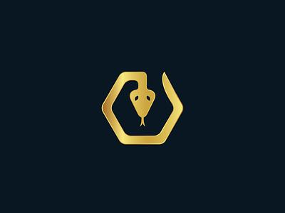 Hexagon Snake Logo vector viper poison simple symbol shape illustrator flat design golden logo design animal reptile cobra logo snake hexagon