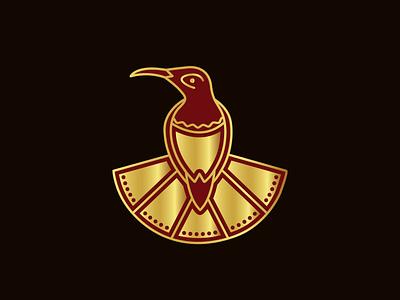Stylish Small Bird Logo design vector hummingbird stylish elegant logo design royal nature animal beauty illustrator branding small bird reddish hermit bird logo