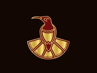 Stylish Small Bird Logo