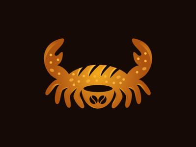 Crab Bakery Logo patisserie frenchbread shape logo-design design branding vector illustrator logo coffeebean coffee breakfast restaurant cafe bread crab crabbread