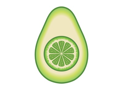Avocado Lime Logo graphicdesign kitchen restaurant nutrition food fitness healthy diet guacamole design branding logo-design illustrator organic lime fruit avocado logo avocado lime