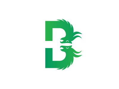 Letter B Dragon Logo drahon-heads hydra animal typography vector logo-design branding illustrator dragon alphabet letter b logo logo