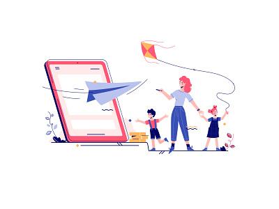 Phund - Borrow coin smart finance loan borrow blockchain finance kids family paper airplane lender devices mobile money