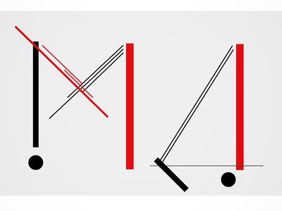 Russian avant-garde monogram constructivism graphic design cyrillic russian geometric geometry red and black el lissitzky monogram type art type design typography typeface