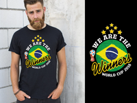 FIFA World Cup 2018 ( BRAZIL ) T-Shirt Design
