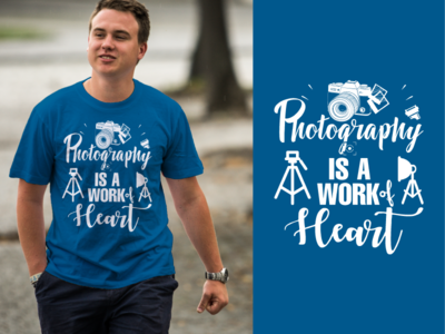 Photography T-Shirt Design & Free PSD Mockup
