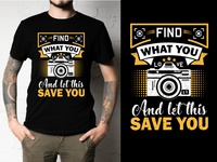 Photography & Cartoon illustration T-Shirt Designs