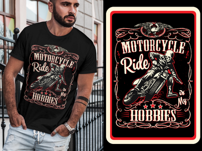 MOTORCYCLE Rider T-shirt Designs 3