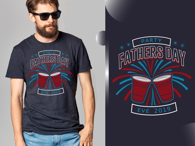 Fathers Day Evening Party T Shirt Design