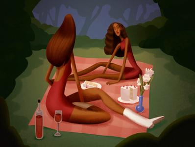 Wine + Angel Cake