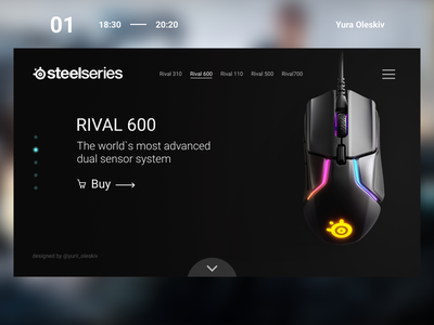 First post - Gaming mouse mouse steelseries design web ux ui gaming cybersport
